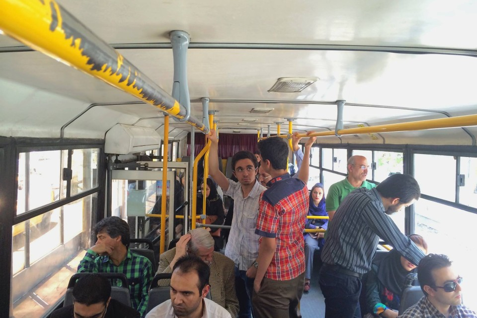 Ordinary day in Tehran- on a bus